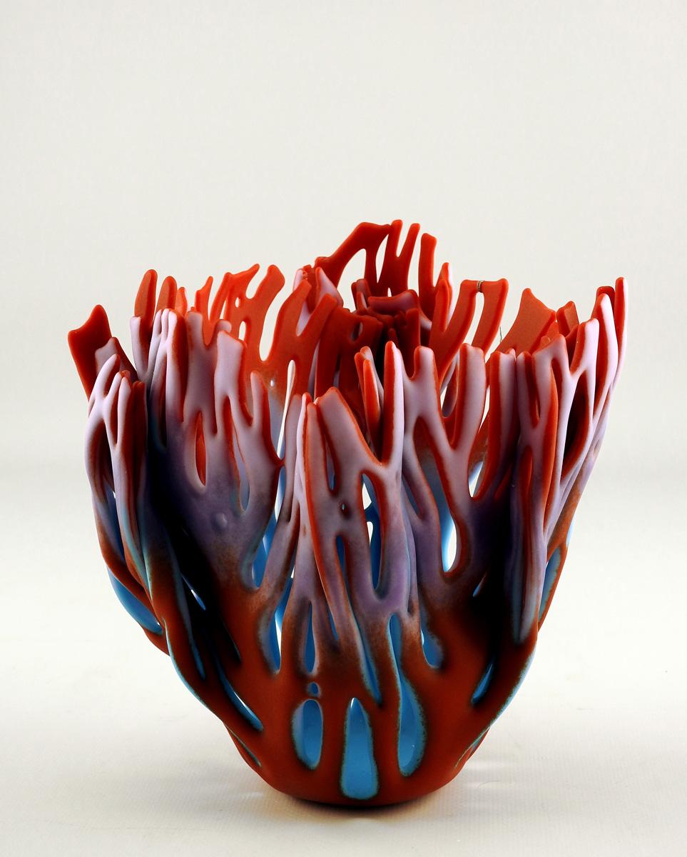 Vase/Med Reds Purple ... by  Glenda Kronke - Masterpiece Online