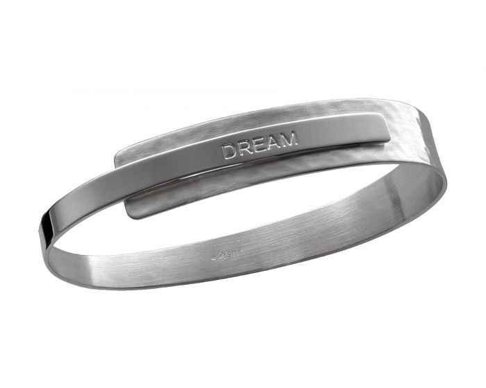 Sentiment Bracelet Sterling Silver Dream