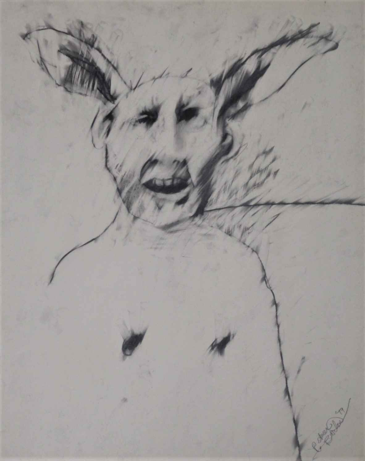 Untitled (Figure w/ r... by  Rick Bartow - Masterpiece Online