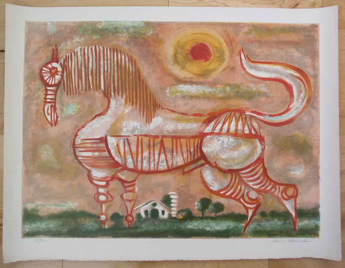 Untited (Red Horse) by Mr. Aaron Bohrod - Masterpiece Online