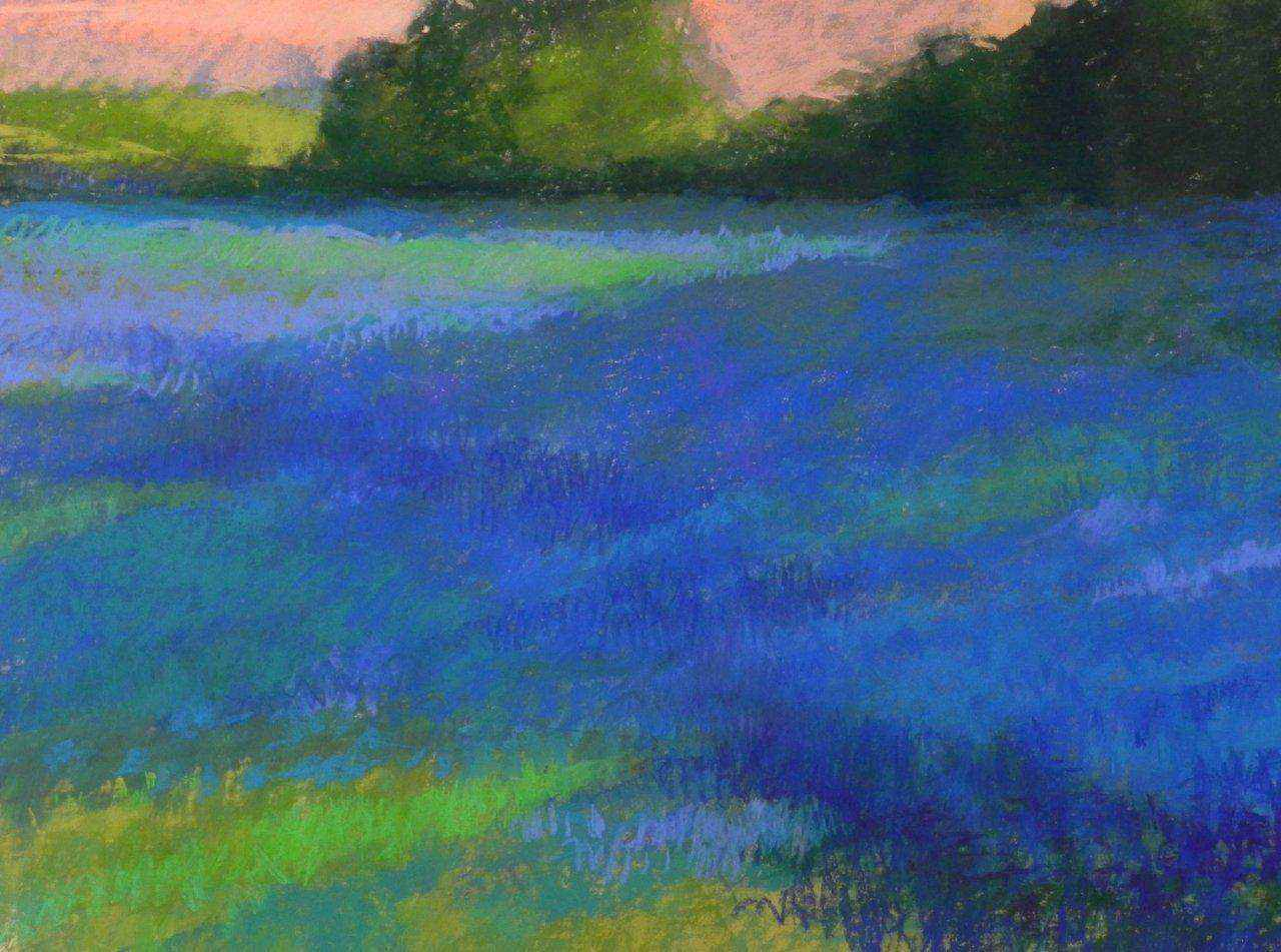 Fields of Blue by Ms Kathleen Cook - Masterpiece Online