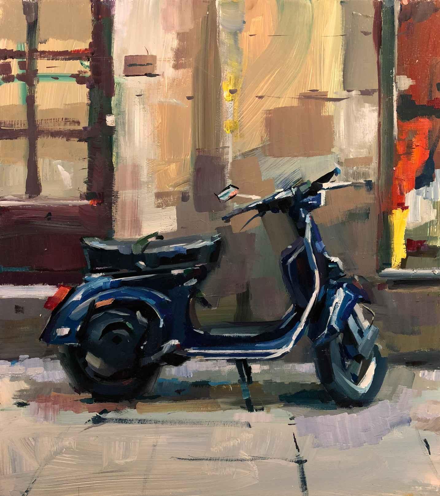 Blue Vespa by Mr. Lane Bennion - Masterpiece Online