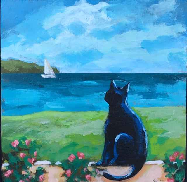 Watching the Sailboat... by  Kate Winn - Masterpiece Online
