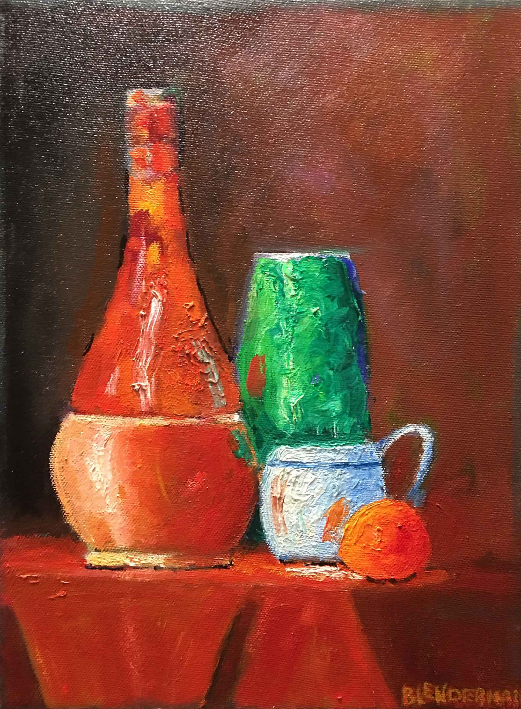 Still Life in Red & G... by  Robert Blenderman - Masterpiece Online