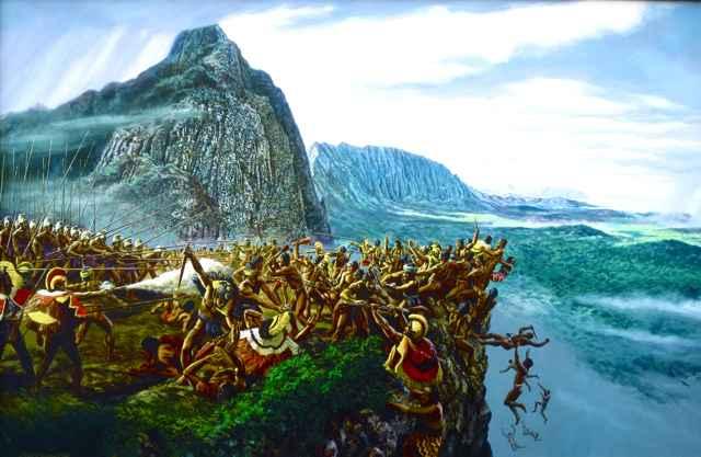 Battle of Nu'uanu Pali by  Herb Kawainui Kane (1928-2011) - Masterpiece Online