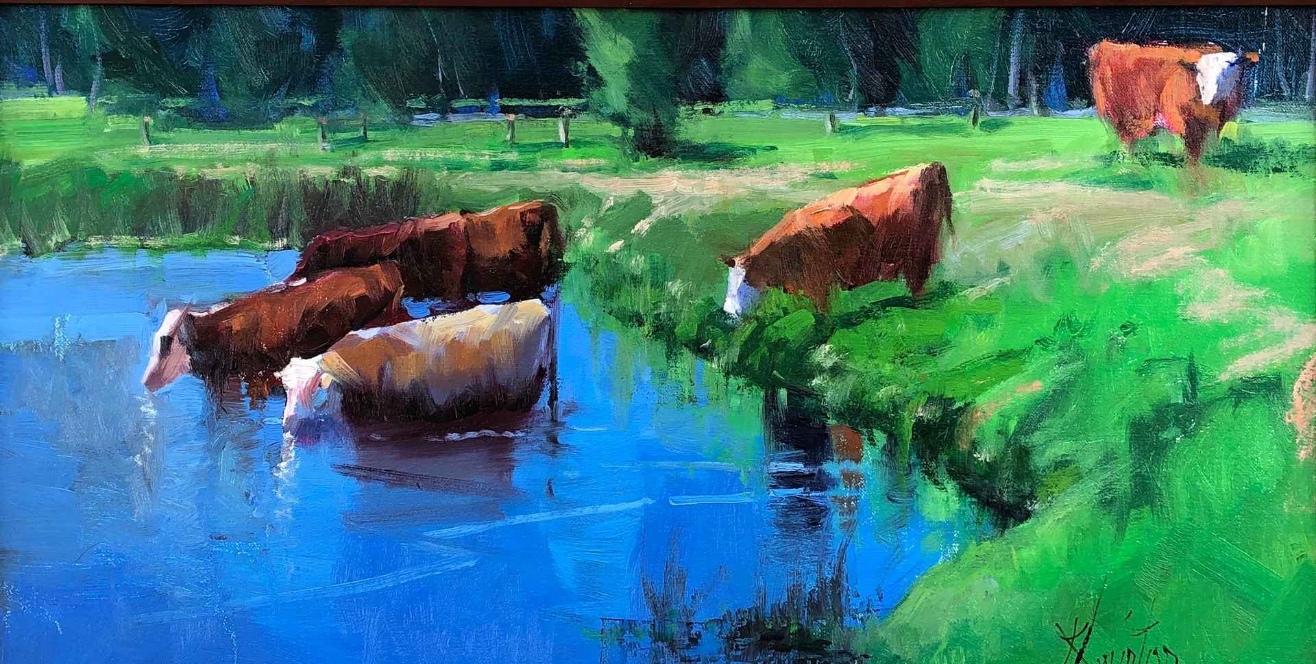 Hanging at the Water ... by  Doug Swinton - Masterpiece Online