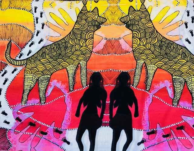 Devil Dingo Scarf by Mrs Joyce Henderson - Masterpiece Online