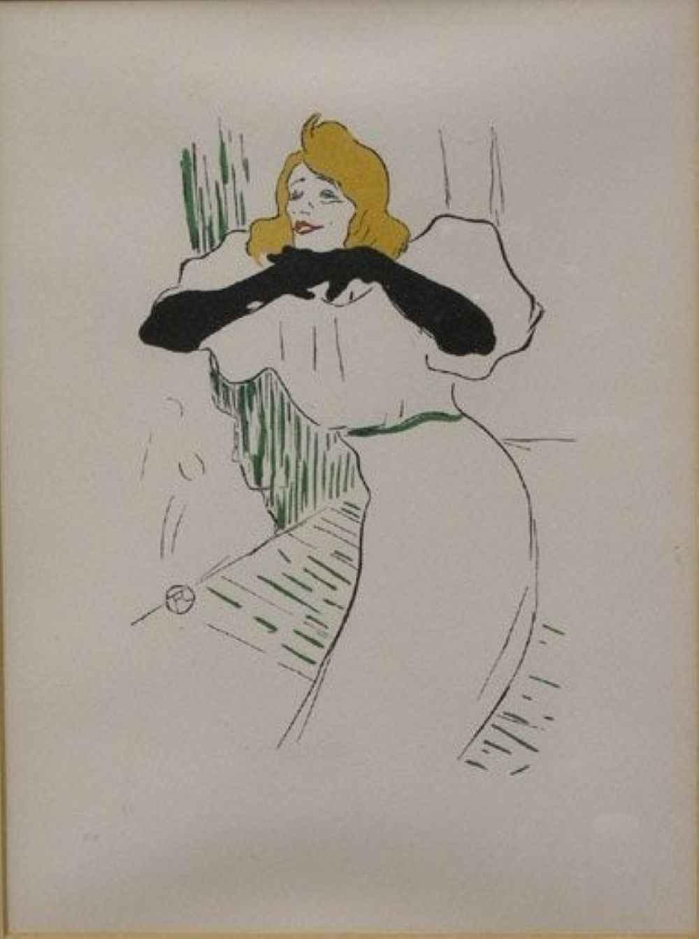Yvette Gilbert by  Henri de Toulouse Lautrec - Masterpiece Online