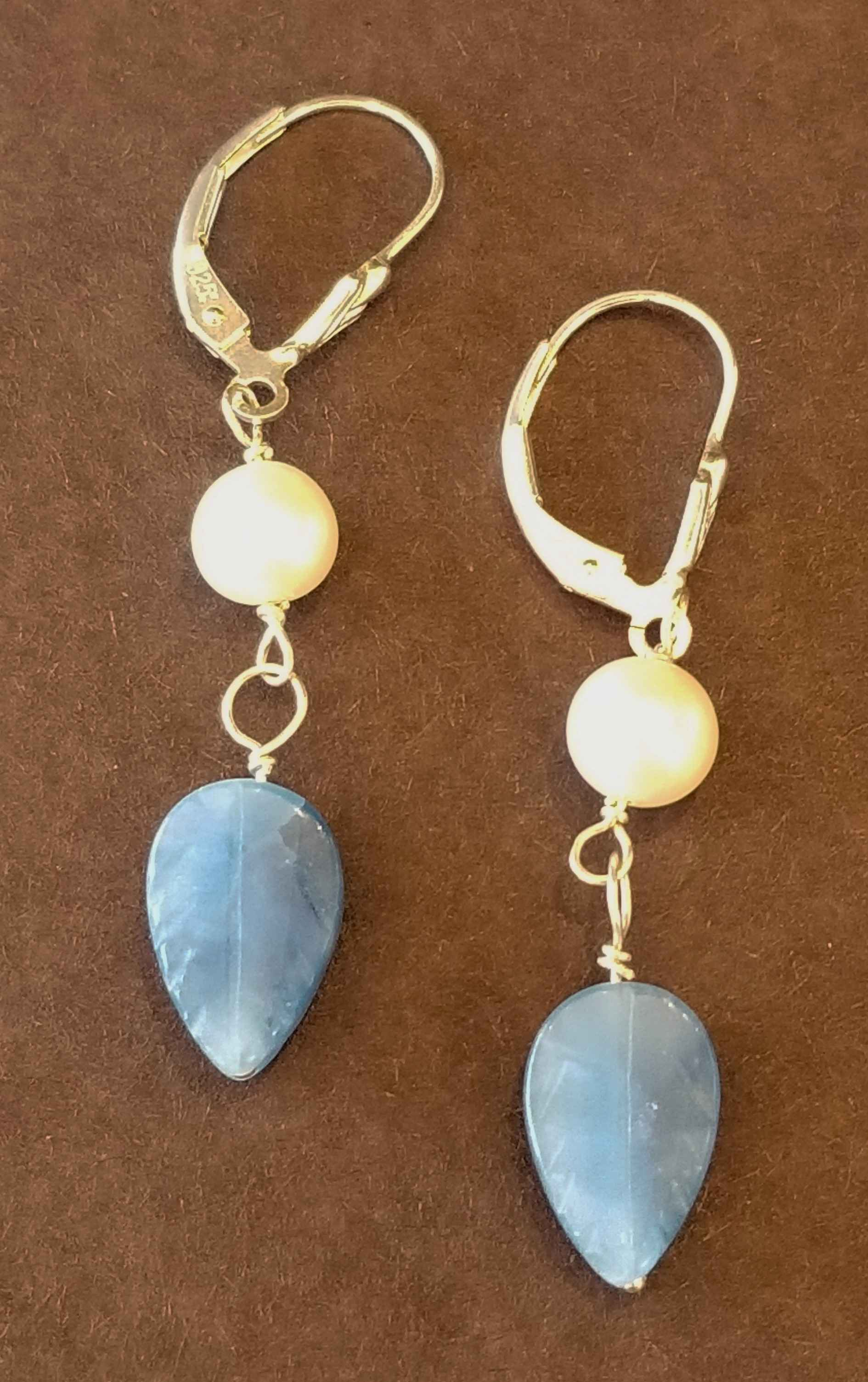 Blue Quartz and Pearl... by Ms. Catherine Laing - Masterpiece Online