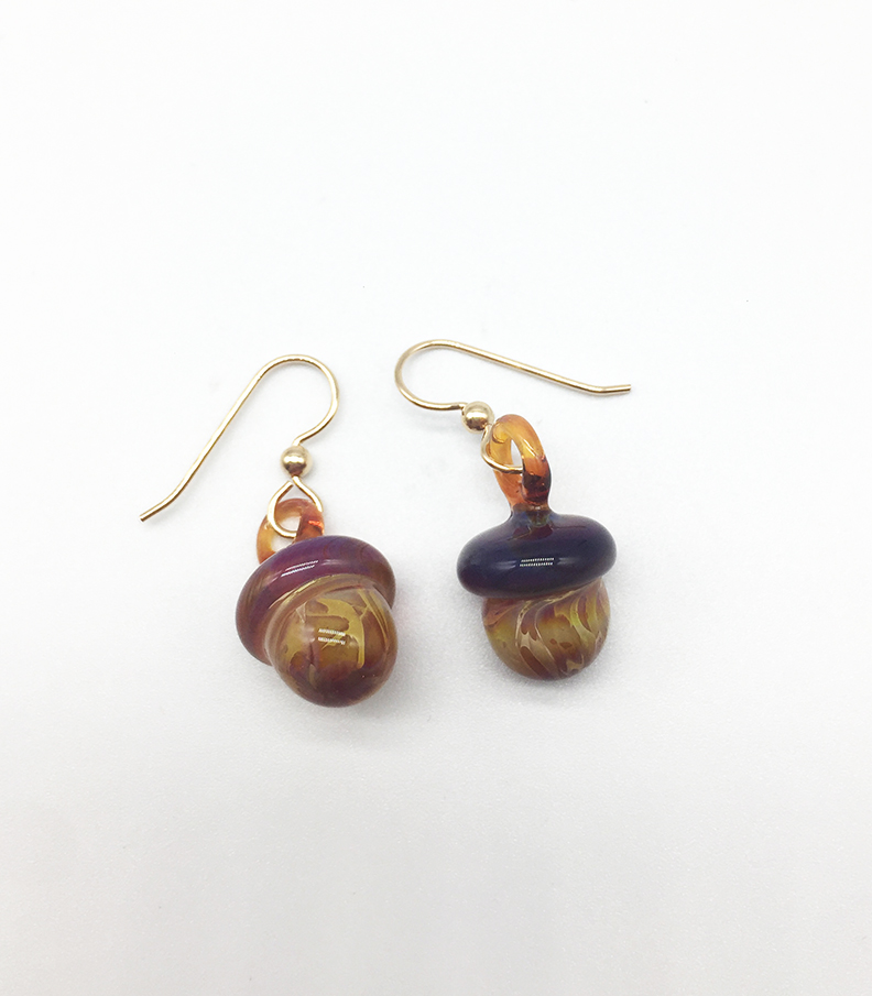 Acorn Earrings on Gold Filled Wires
