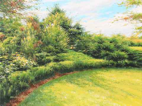 Garden Hedge - July  by  Michael Wheeler
