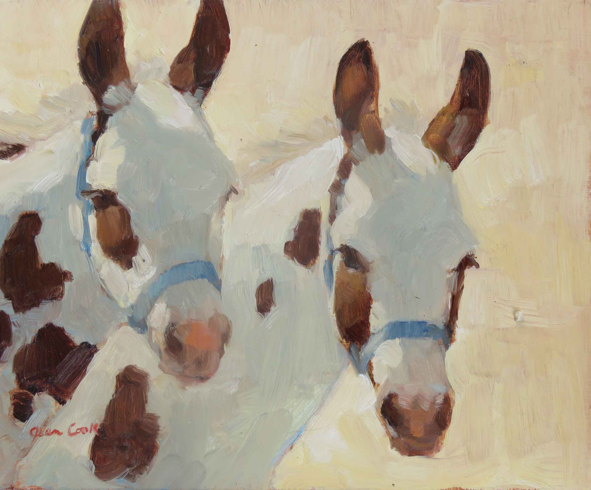 Spotted Donkeys  by  Jean Cook