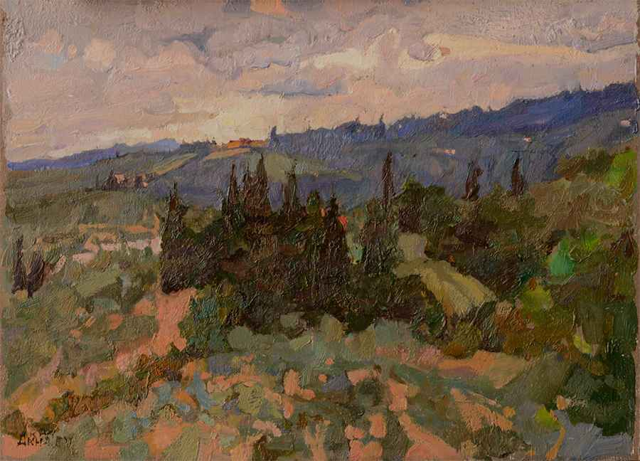 Tuscan Dusk by  Daud Akhriev - Masterpiece Online