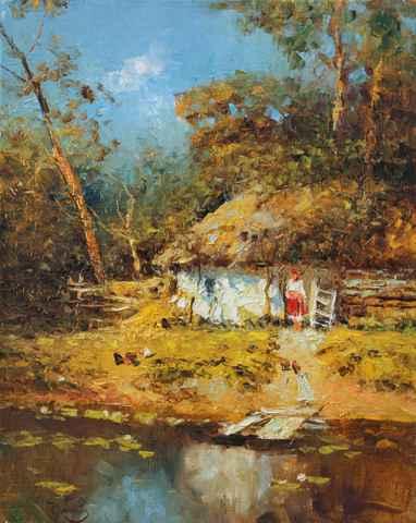 Fall Morning by  Vladimir  Nasonov  - Masterpiece Online