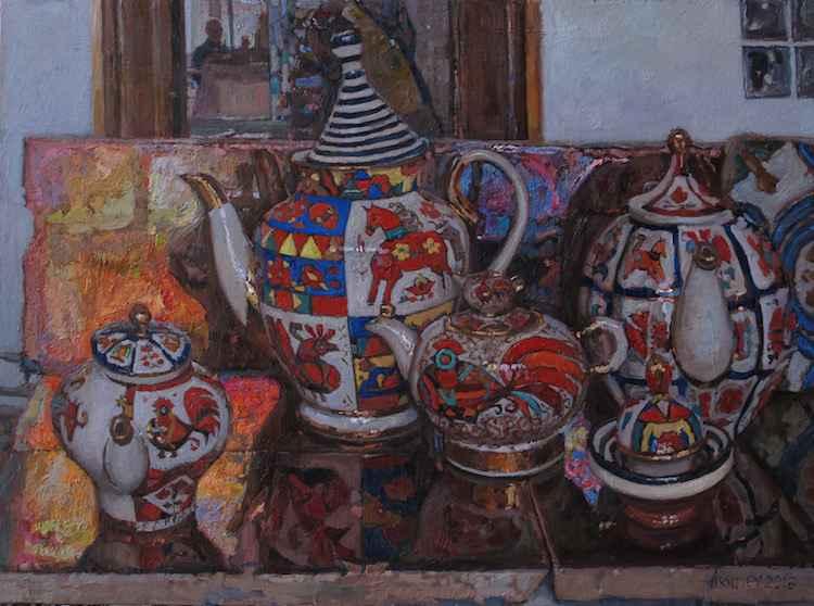 Russian Tea Party, 2 by  Daud Akhriev - Masterpiece Online