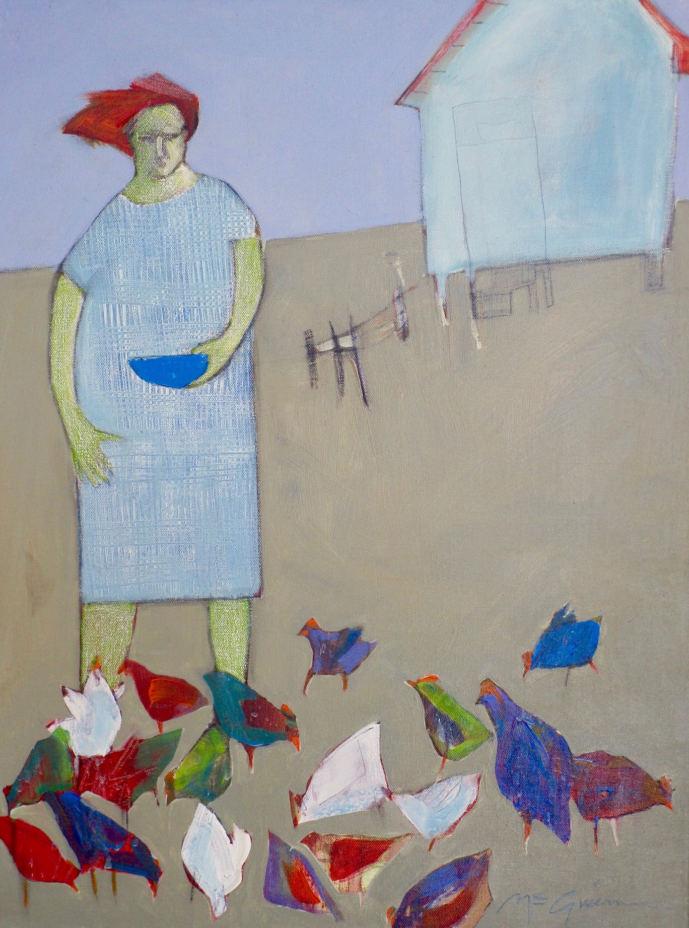 Pet Chickens by  Peggy McGivern - Masterpiece Online