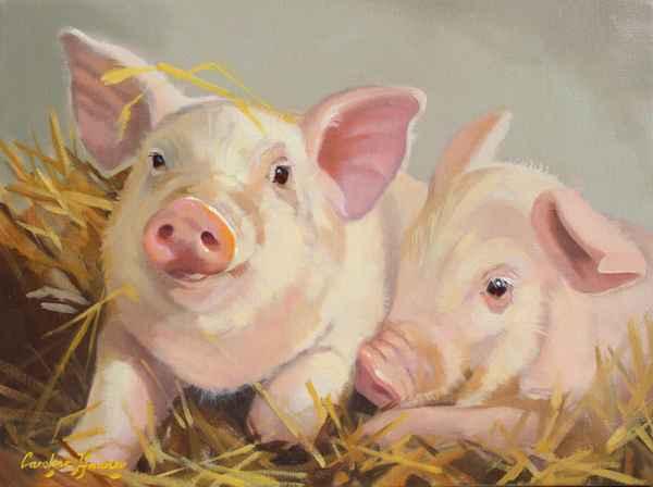 Piggies in the Straw by  Carolyne Hawley - Masterpiece Online