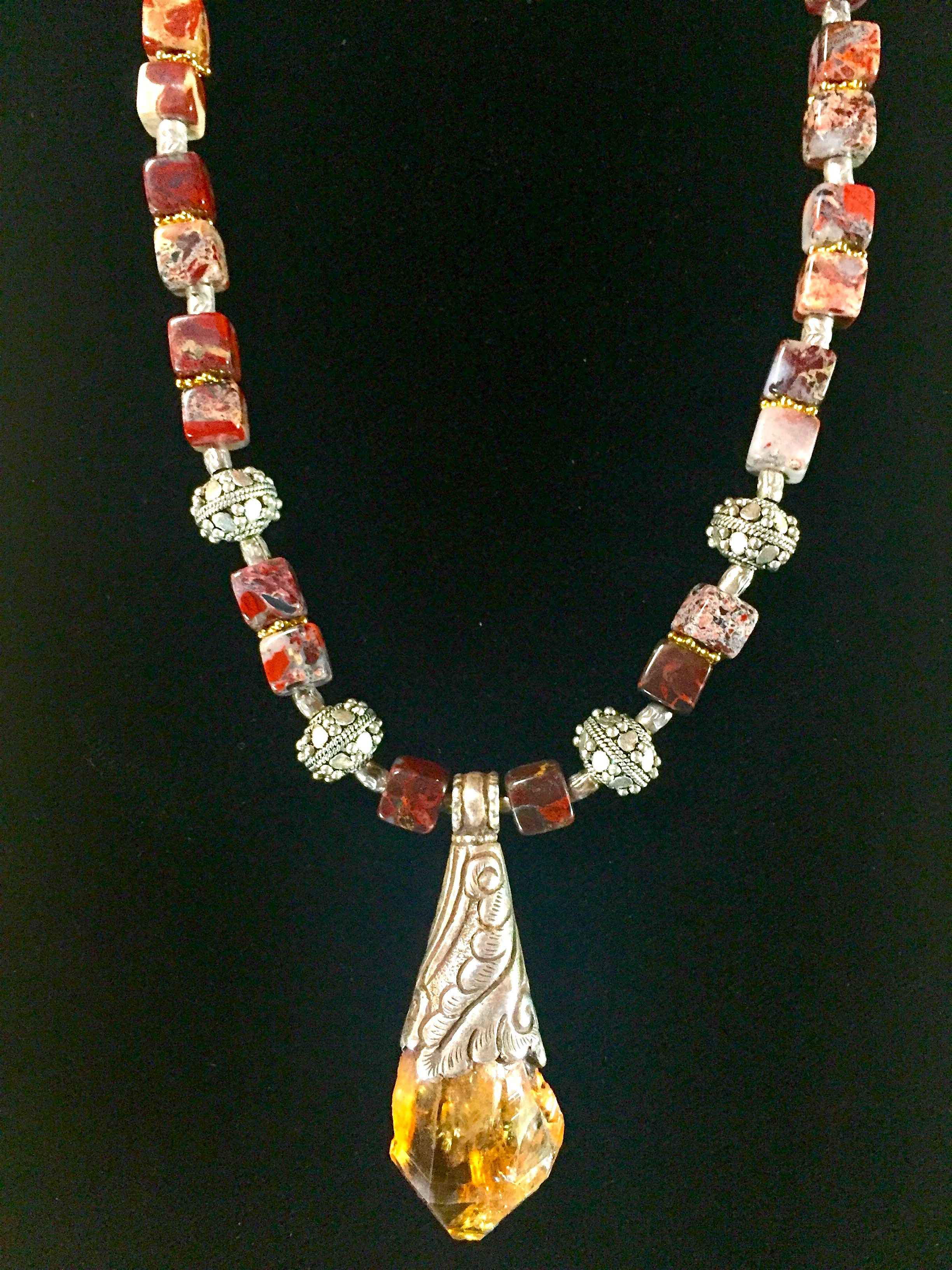 Tibetan Citrine Penda... by  Crystal Gypsy Designs - Masterpiece Online