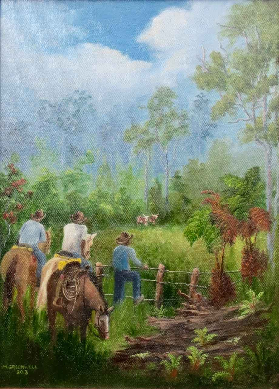 Wild Cattle, Mauka Ko... by Mrs. Martha Greenwell (1920-2014) - Masterpiece Online