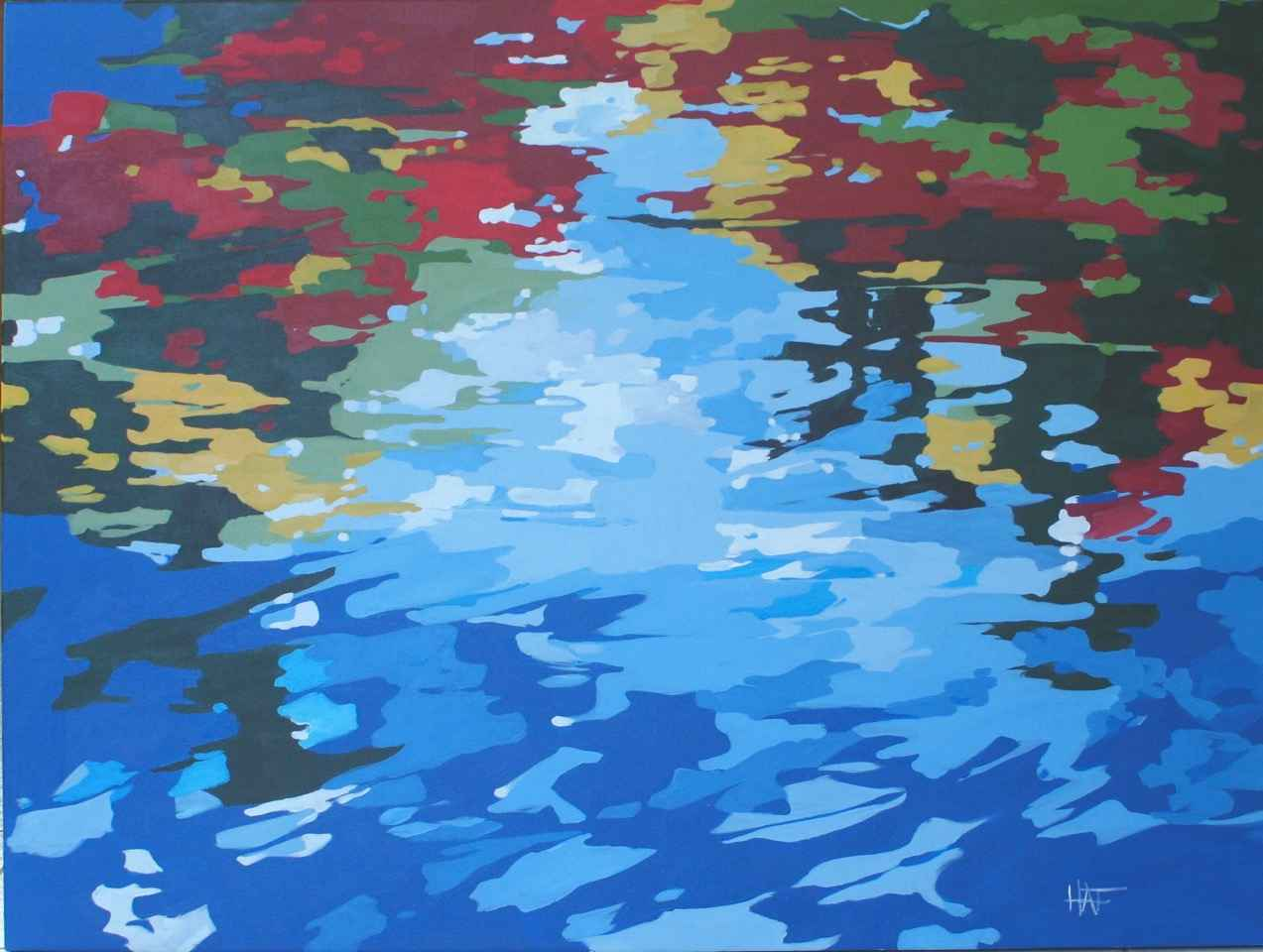 Reflections 1 Series 2 by  Holly Ann Friesen - Masterpiece Online