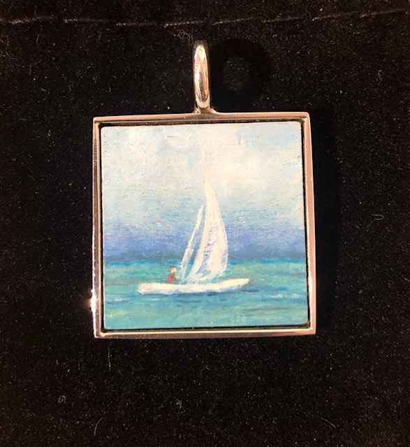 #310 Sm Sq Sailboat by  Nell Mercier - Masterpiece Online