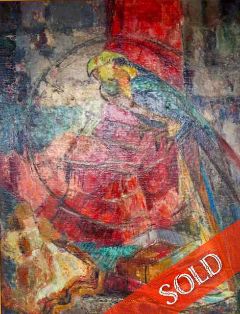 Parrot by  Shirley Russell (1886-1985) - Masterpiece Online