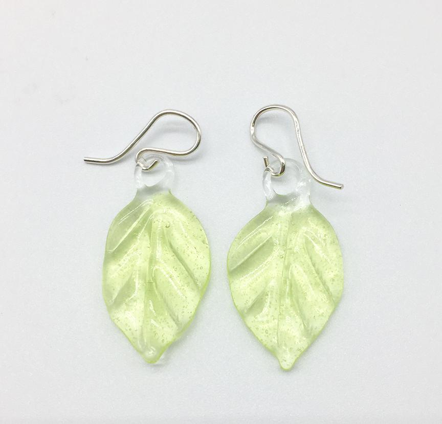 Aspen Leaves in Sublime Earrings on Sterling Wires
