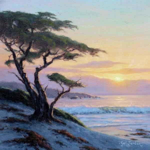 Cypress, Surf and Sun... by  Sally  Jordan - Masterpiece Online