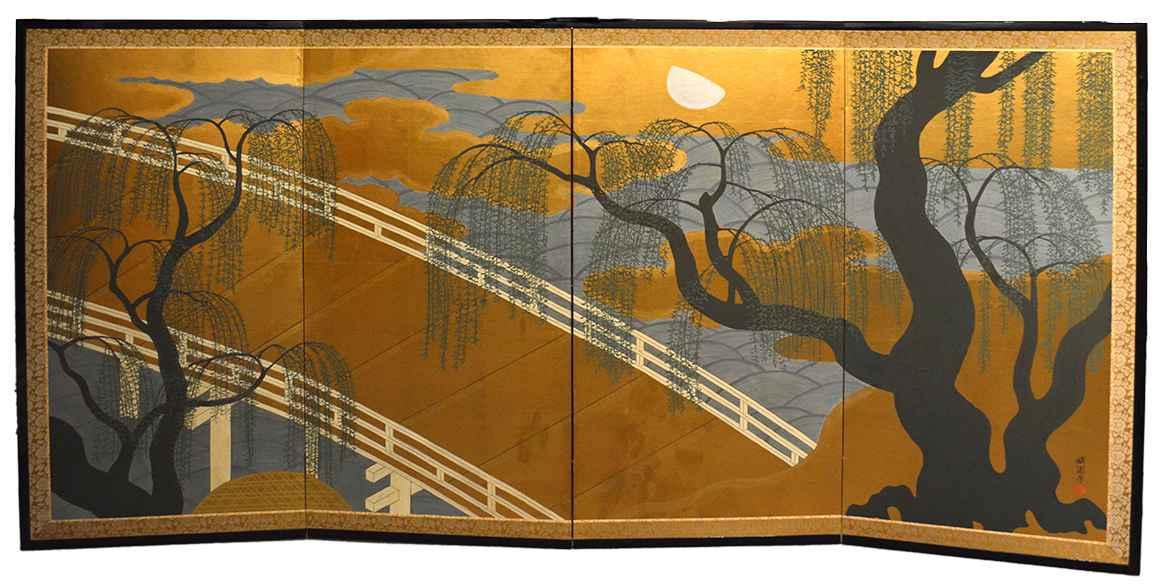 Willow Tree & Bridge by  Oh-en Tanaka - Masterpiece Online
