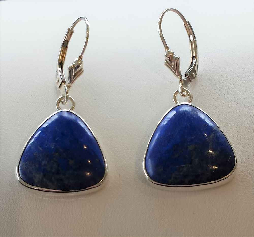 #10 Lapis Lazuli Earr... by Ms. Catherine Laing - Masterpiece Online