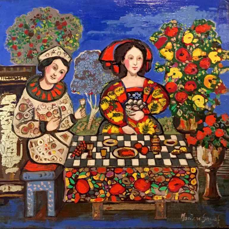 Dinner in Blue by  Marilene Sawaf - Masterpiece Online