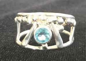#6 Blue Zircon Ring by Ms. Catherine Laing - Masterpiece Online