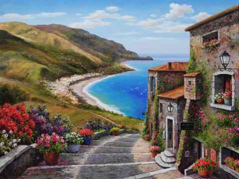 Shoreline Village by  Soon Ju Choi  - Masterpiece Online