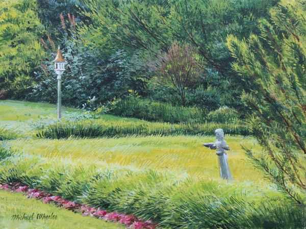 Garden with Birdbath ...