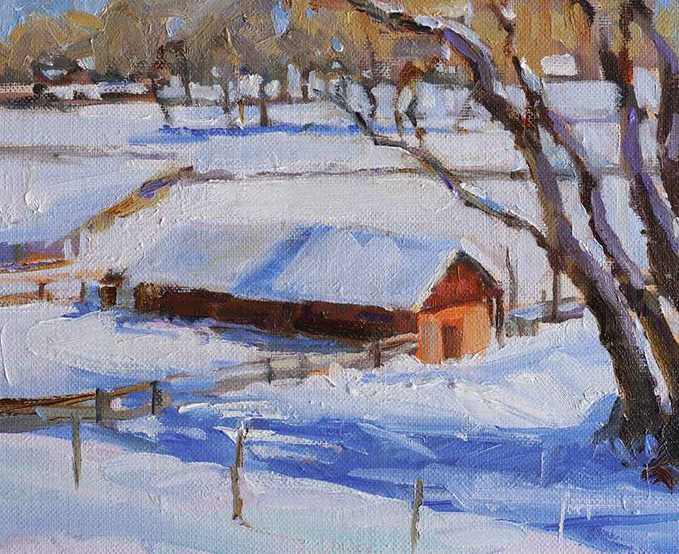 Snow Shadows by  Julee M. Hutchison - Masterpiece Online