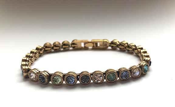 Game Set Match Bracelet in Gold, Zephyr, long