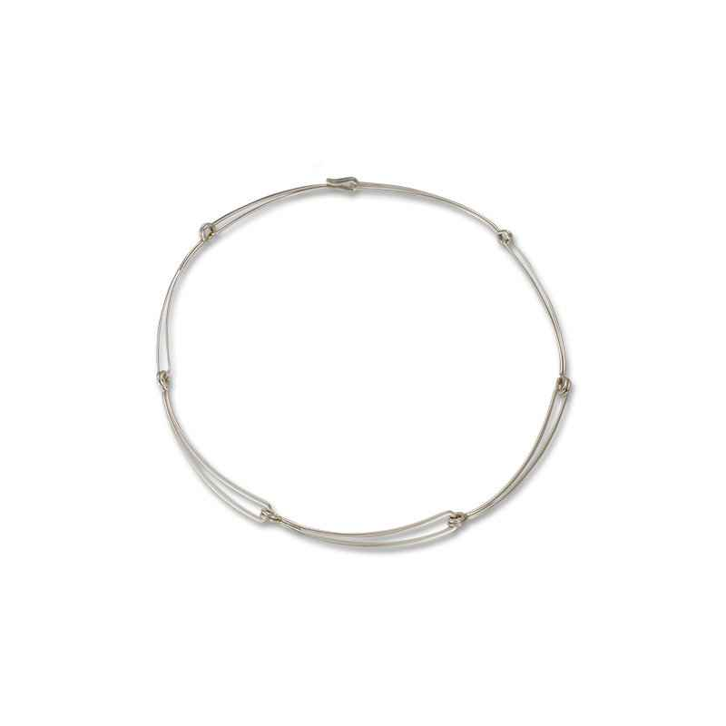 Open Link Necklace Sterling Silver 18