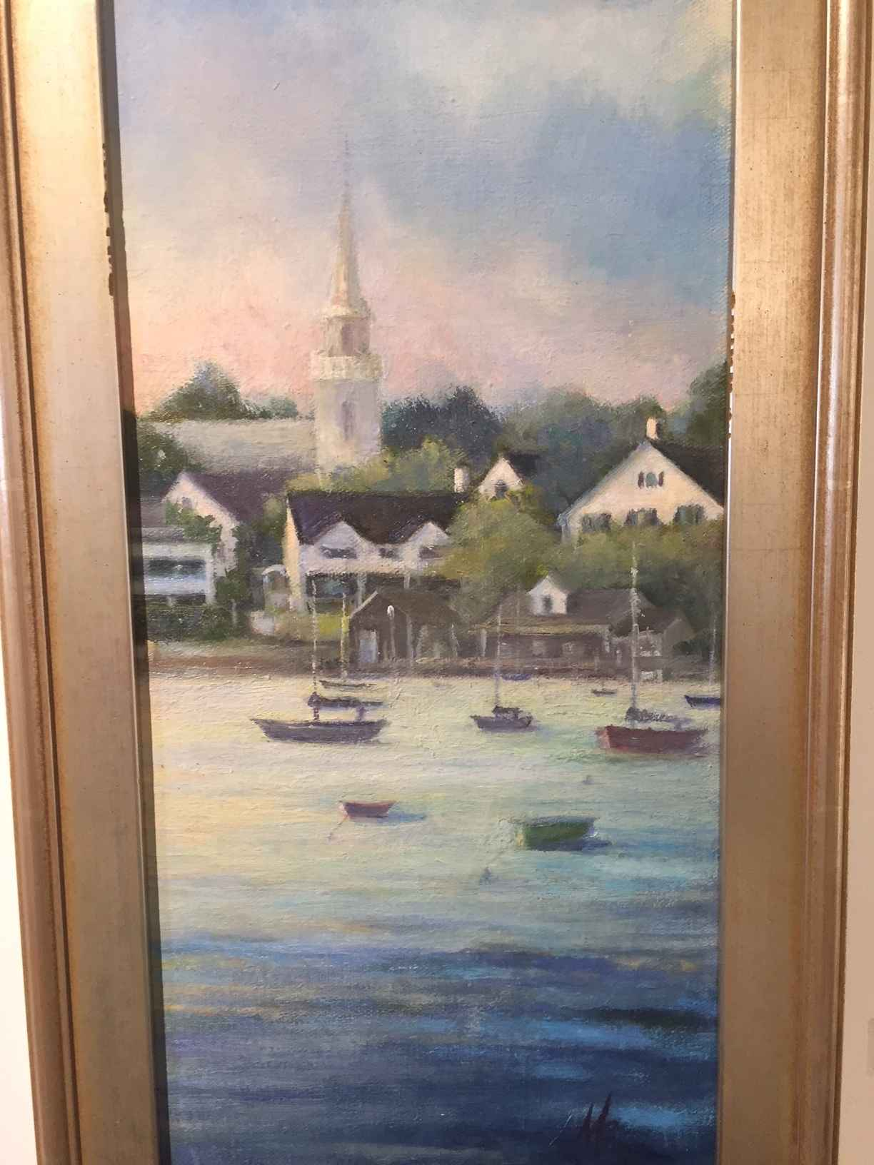 Dusk on the Harbor by  Mary Beth Thompson Dowlin - Masterpiece Online