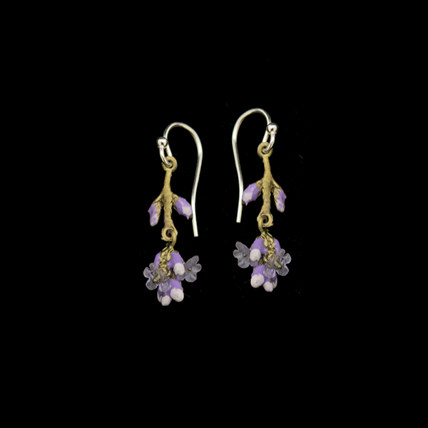 Lavender Dangle Wire Earrings