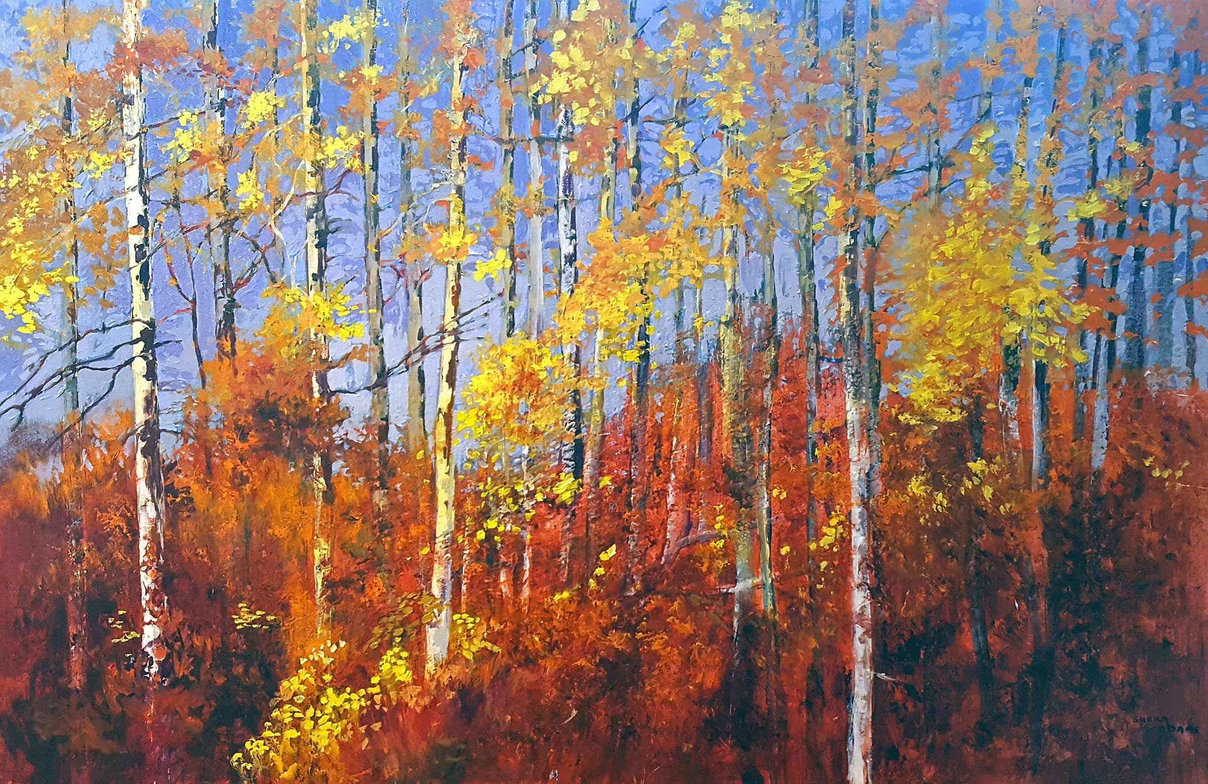 Alberta Poplars by  Sheila Adams - Masterpiece Online