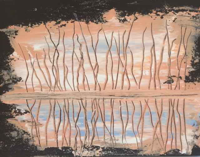 Seagrass on a Pink Mo... by  Steve Lyons - Masterpiece Online