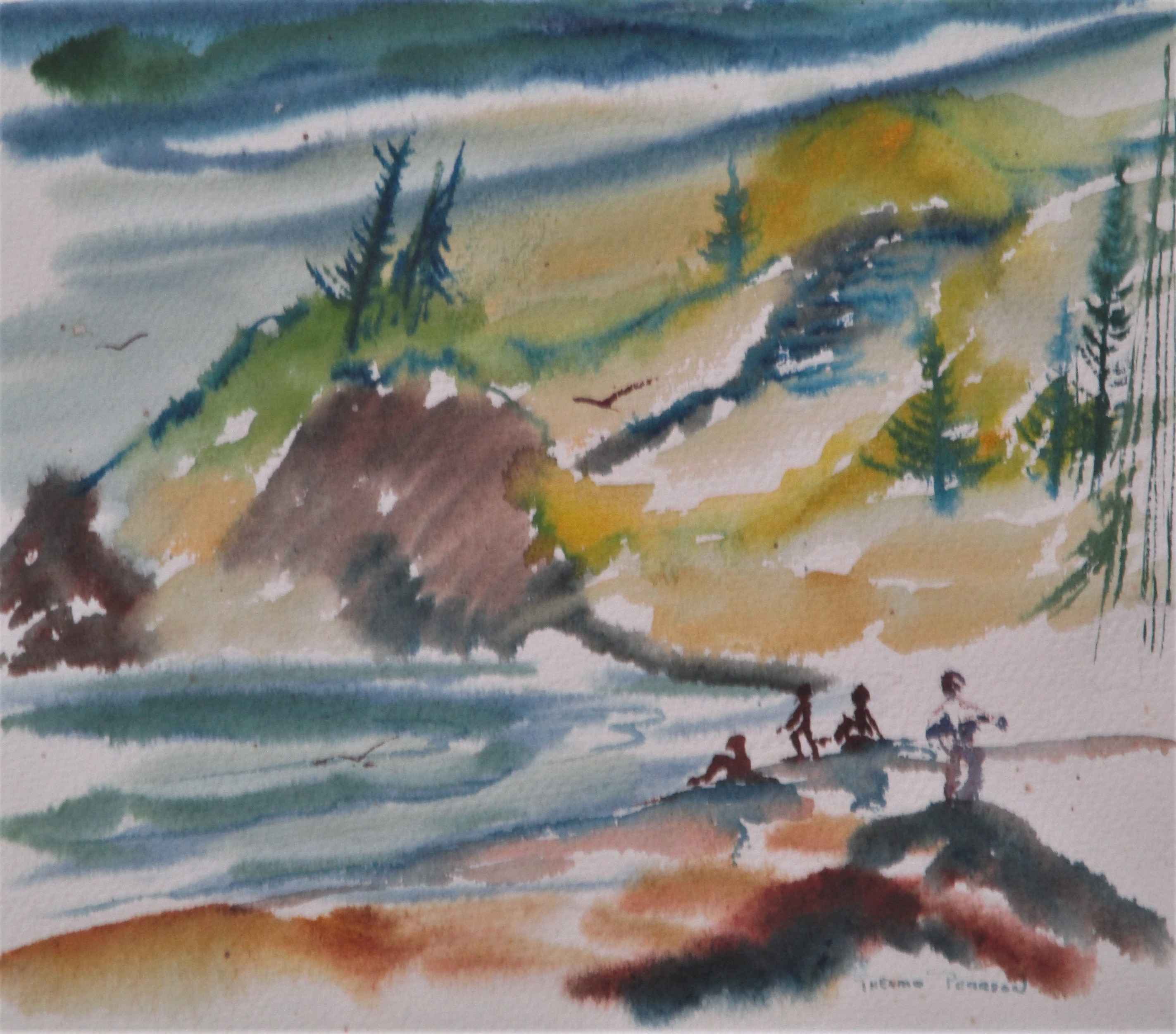 Unknown (beachscape) by  Thelma Pearson - Masterpiece Online