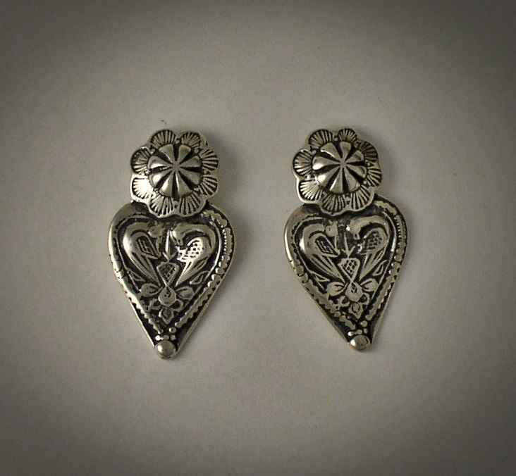 Silver Heart Earrings by  Mummy's Bundle - Masterpiece Online