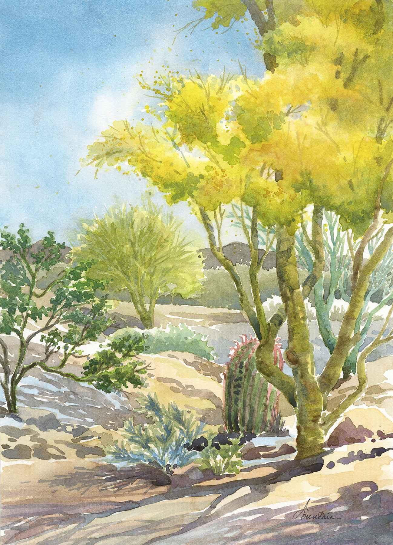 FELIZ PASEOS PARK by  Ellen Fountain - Masterpiece Online