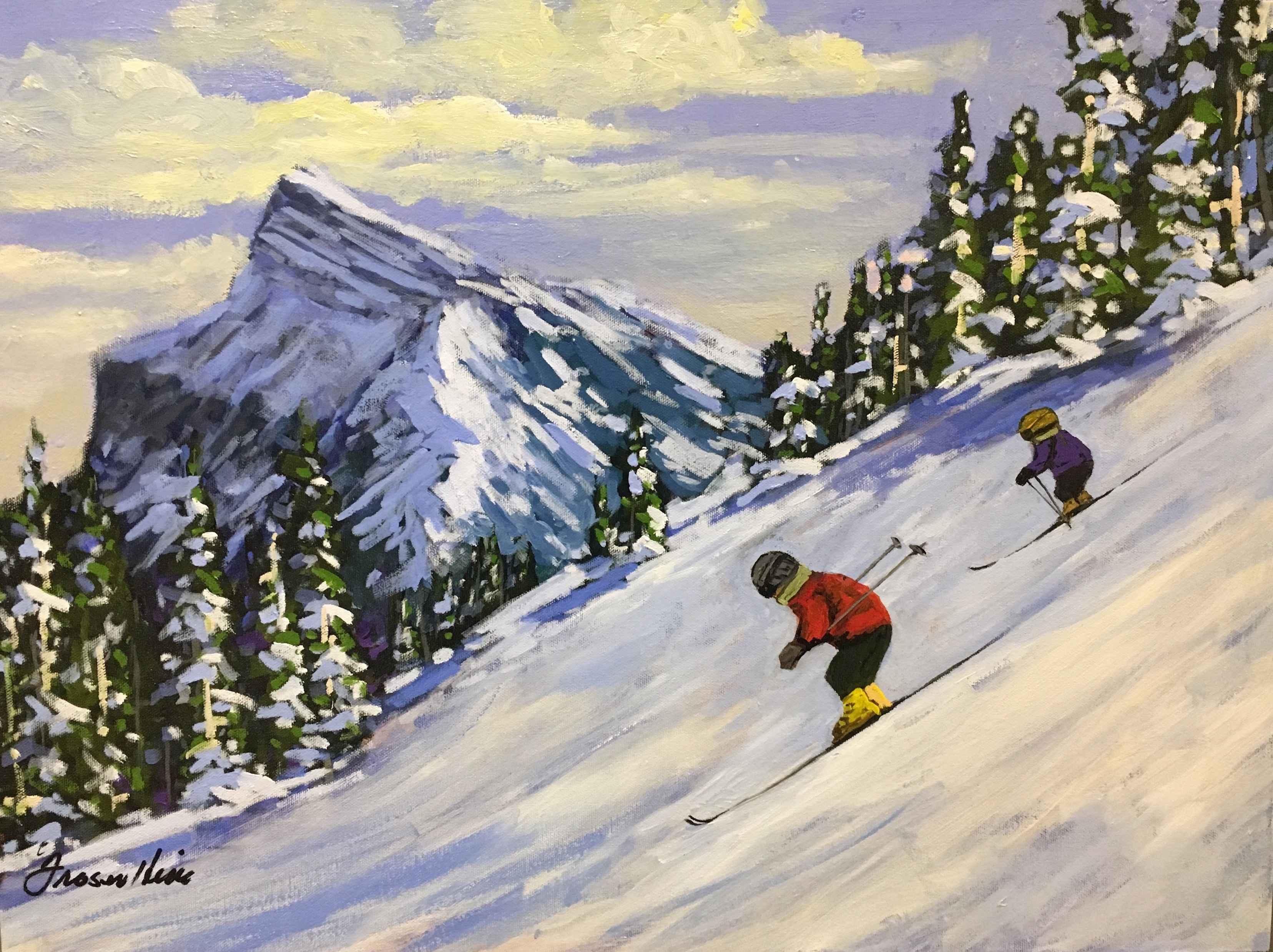 Norquay Run by  Fraser Hine - Masterpiece Online