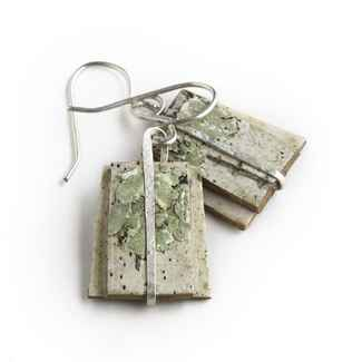 Salon Earrings Birch Bark and Sterling, 1