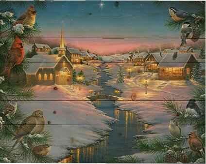 A Winter's Silent Nig... by  Abraham Hunter - Masterpiece Online