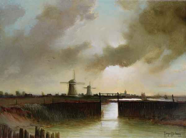 This is Old Holland by  Roger  Budney  art collection of Classic Art Gallery represented by Classic Art Gallery - Masterpiece Online