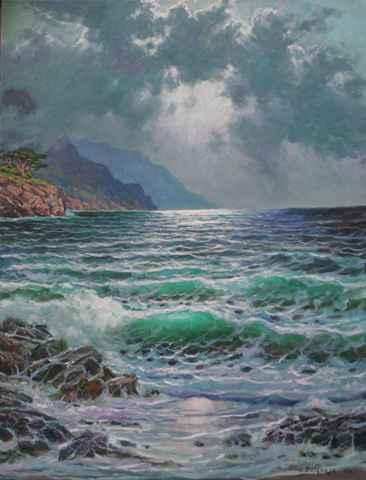 Cypress moonlight by  A Dzigurski II - Masterpiece Online