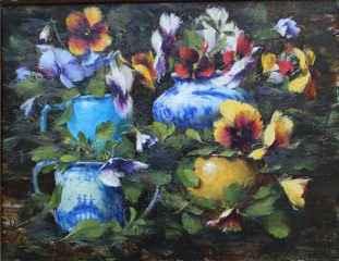 Dancing Pansies by  Robert A. Johnson, OPAM - Masterpiece Online